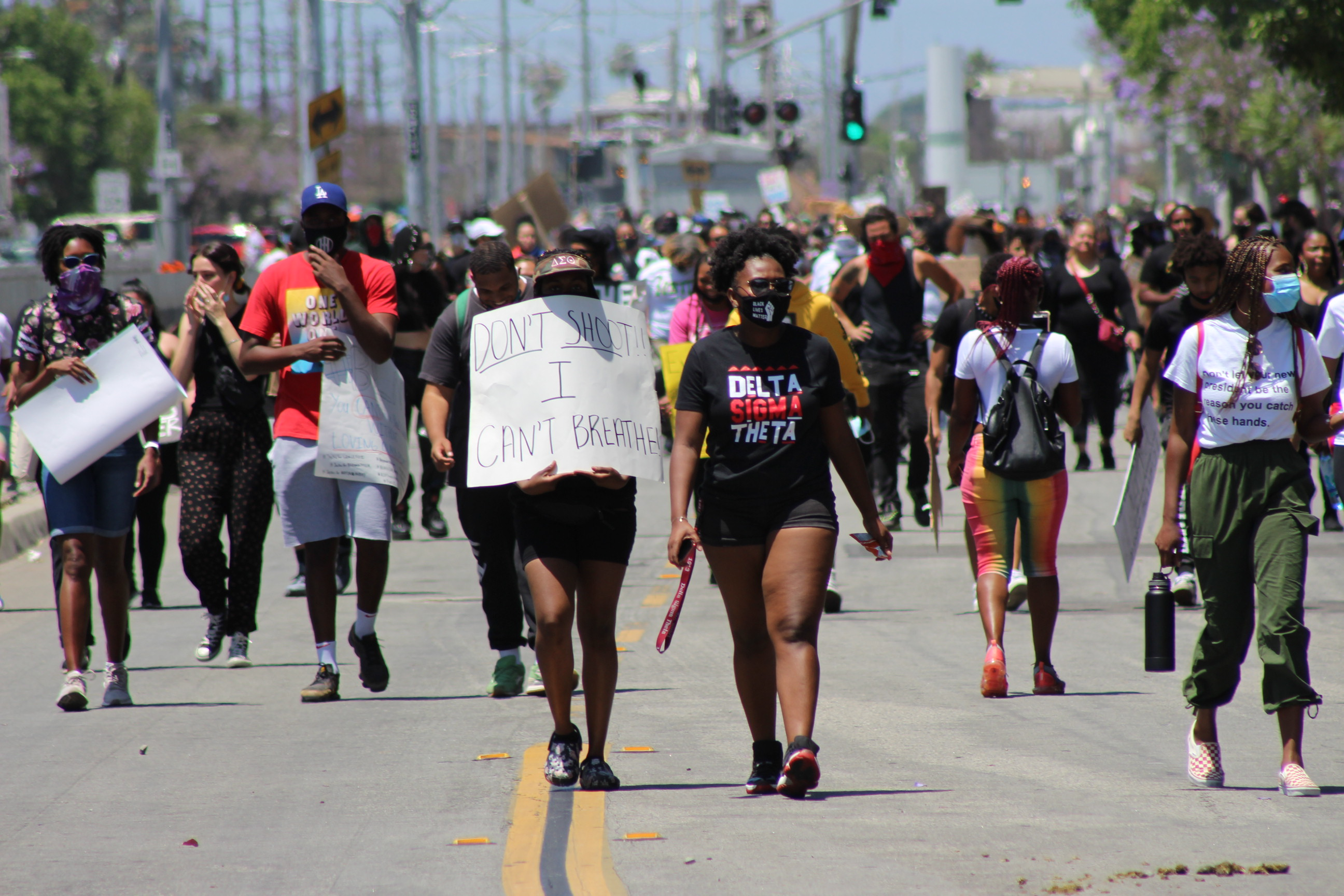 Protestors in Kern County, marching for in response to the killing of George Floyd | Karen Foshay
