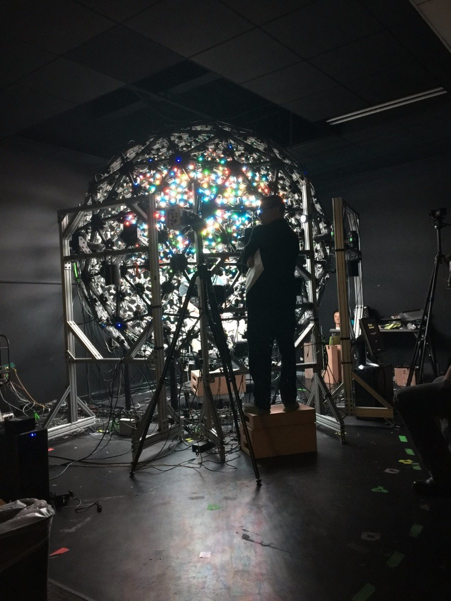 Shoah Foundation's spherical set-up | Courtesy of USC Shoah Foundation