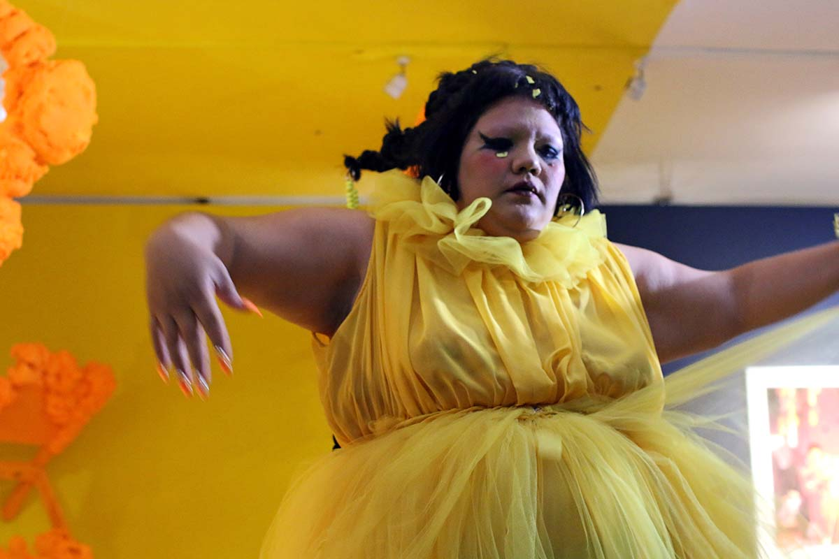 Gabriela Ruiz in performance| Samanta Helou Hernandez
