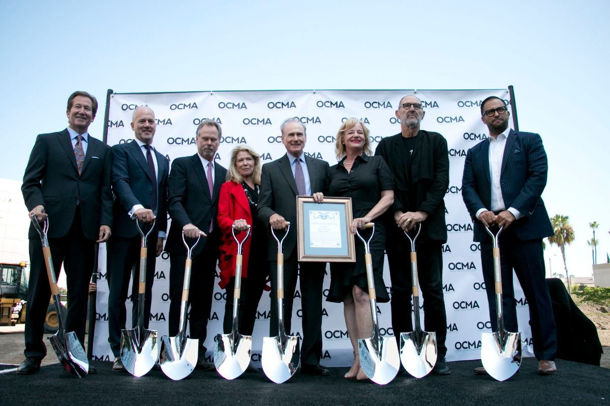Todd D. Smith with other officials at the groundbreaking of OCMA | Carren Jao
