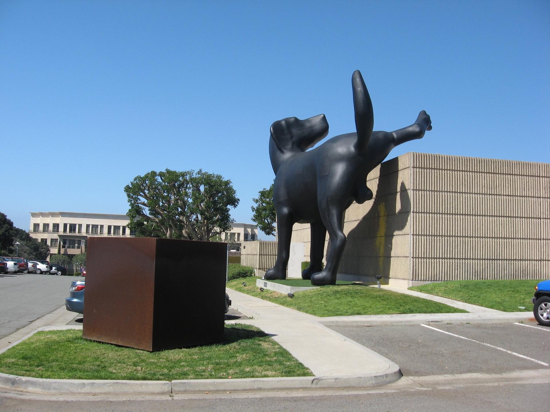 "Installation view of Richard Jackson's ""Bad Dog"" at OCMA"