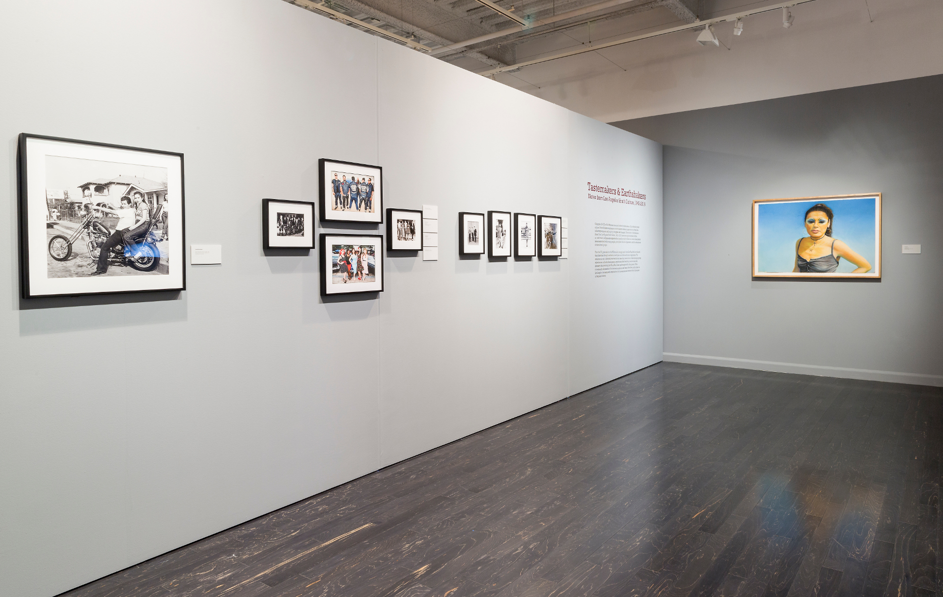 "Installation view of ""Tastemakers & Earthshakers Notes from Los Angeles Youth Culture"""