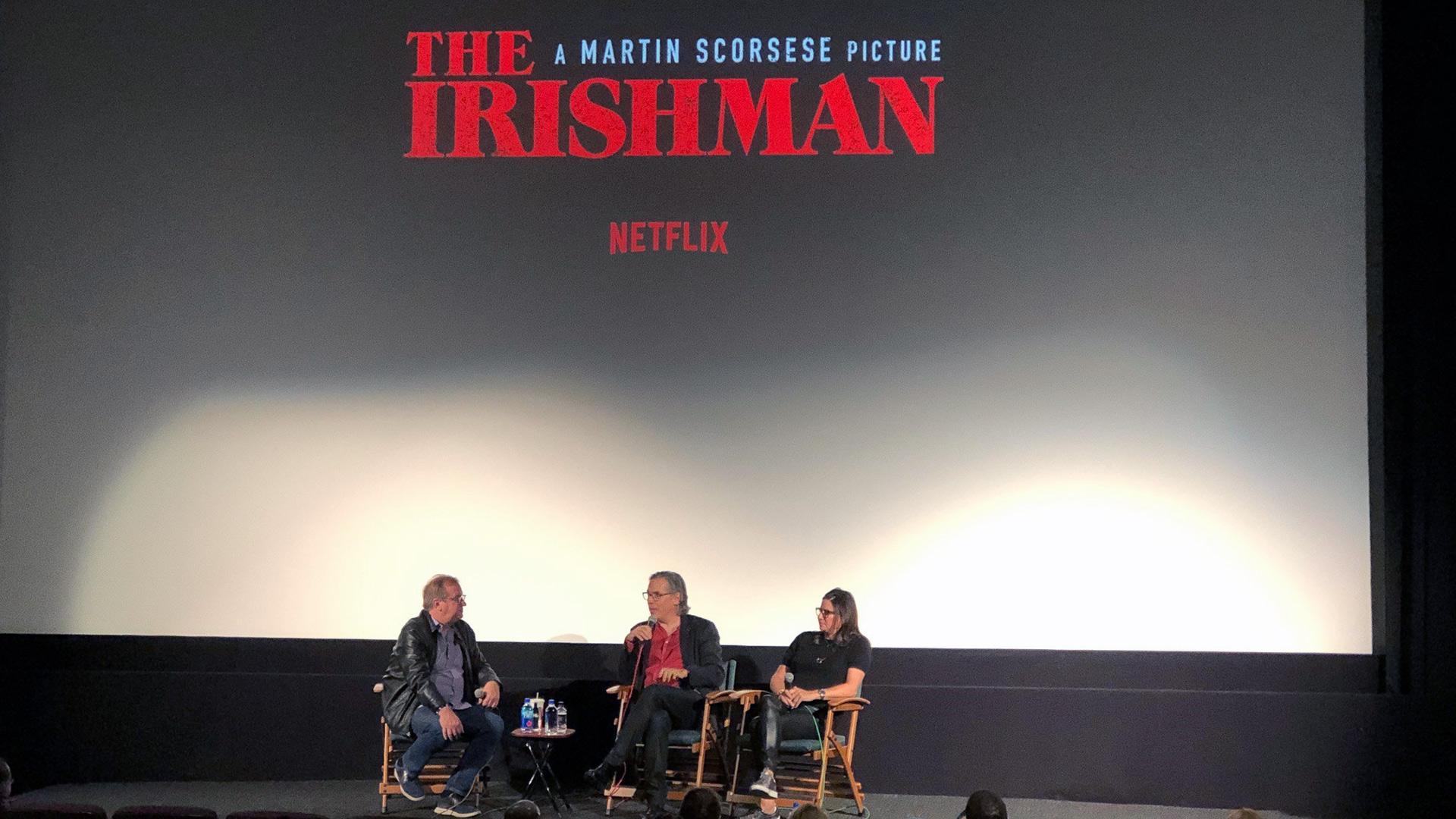 Q&A with moderator Pete Hammond, cinematographer Rodrigo Prieto and producer Emma Tillinger Koskoff.