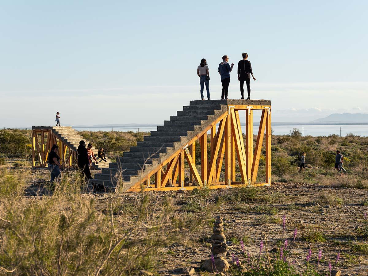 Desert X installation view, Iván Argote, A Point Of View, 2019 | Lance Gerber, courtesy of Desert X