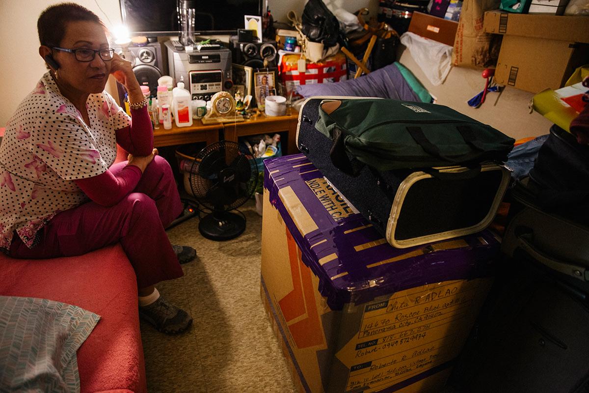 Josephine Biclar at her apartment.   Samanta Helou Hernandez