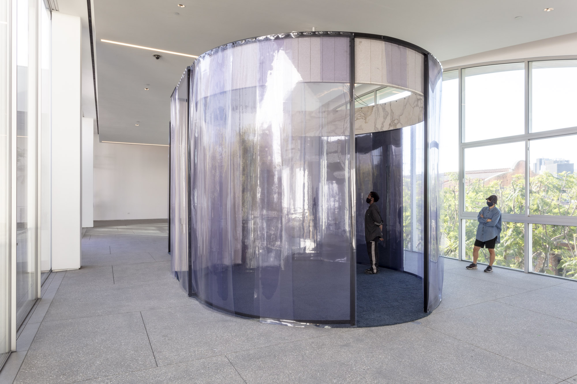 """An installation view of Jacqueline Kijomi's work at """"Made in L.A. 2020: a version."""" at Hammer Museum, Los Angeles. 