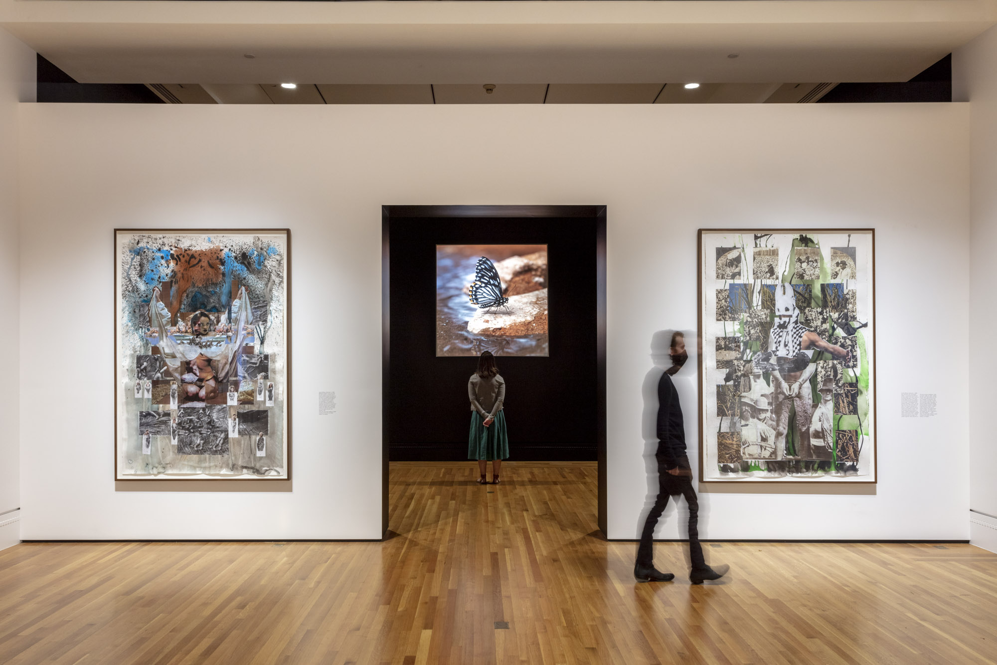 """An installation view of Jeffrey Stuker's work at """"Made in L.A. 2020: a version"""" at The Huntington Library, Art Museum, and Botanical Gardens, San Marino. 