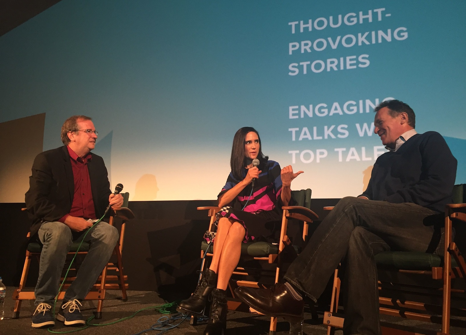 "Jennifer Connelly and Gary Lucchesi attend KCET's screening of ""American Pastoral"""