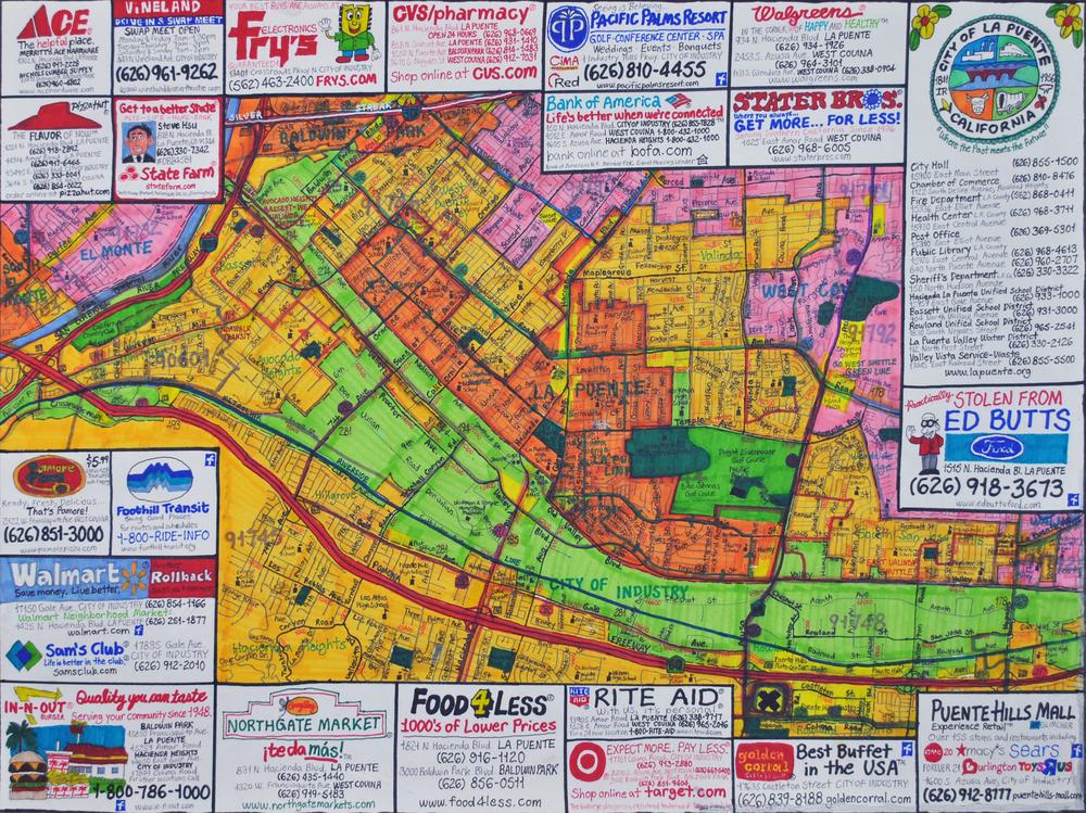 Joe Zaldivar Street map of La Puente California
