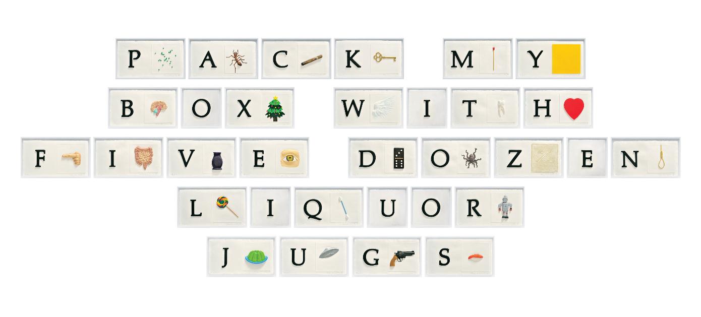 "John Baldessari, ""A B C Art (Low Relief) Part II Pangram,"" 2009"