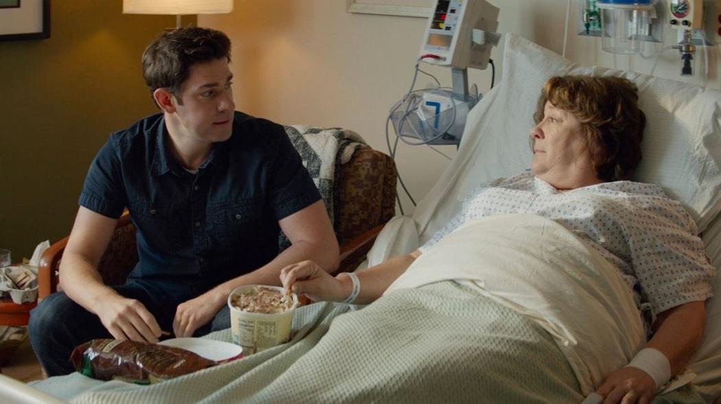 """John Krasinski and Margo Martindale in """"The Hollars."""""""
