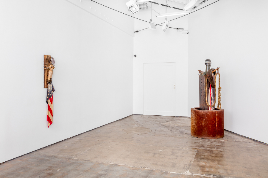 """John Outterbridge: Rag Man,"" installation view"