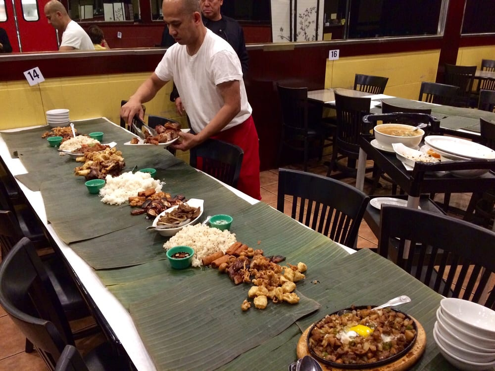 Kamayan dining at Bamboo Bistro | Dave A. From Yelp
