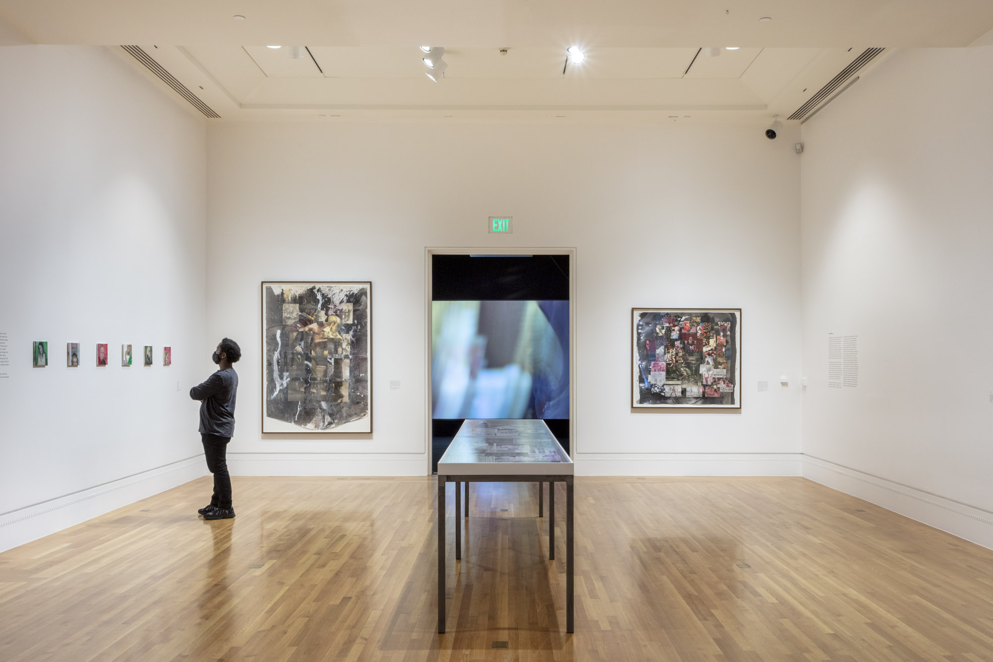 """An installation view of Katja Seib's work at """"Made in L.A. 2020: a version"""" at The Huntington Library, Art Museum, and Botanical Gardens, San Marino. 
