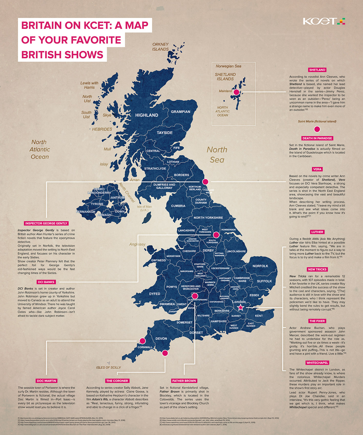 Britain On KCET A Map Of Your Favorite British Shows KCET - Britain on a map