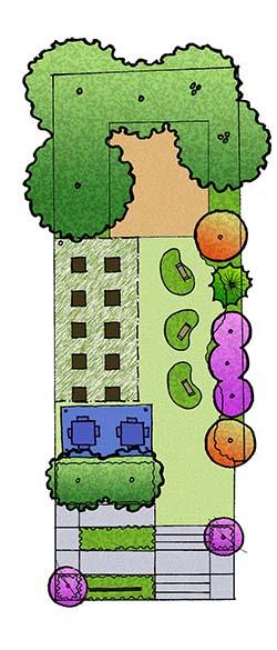 Land Trust garden rendering