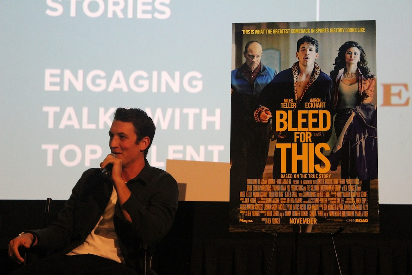 "Miles Teller talks ""Bleed for This"" at the KCET Cinema Series."