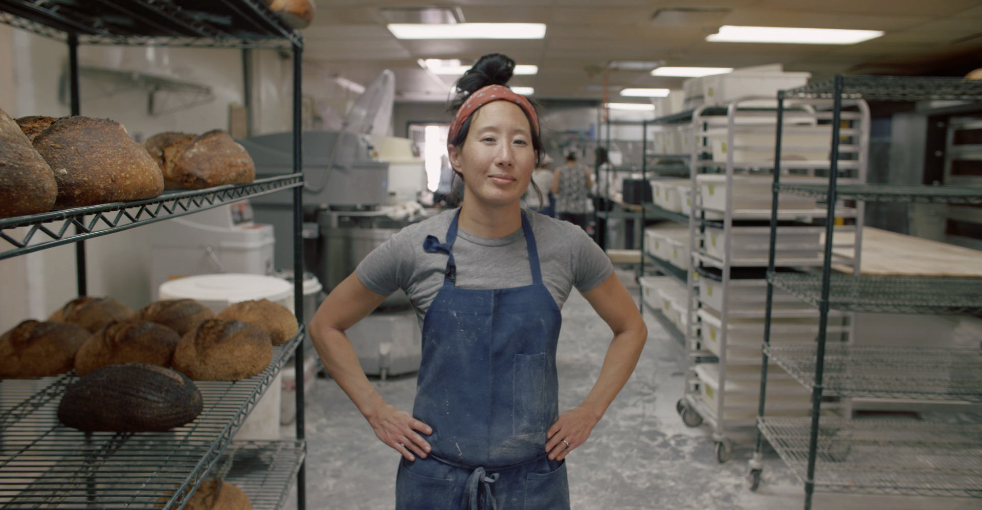 Harriet Hayes is a bread baker with Bub and Grandma's, a wholesale artisanal bread bakery in Silver Lake.