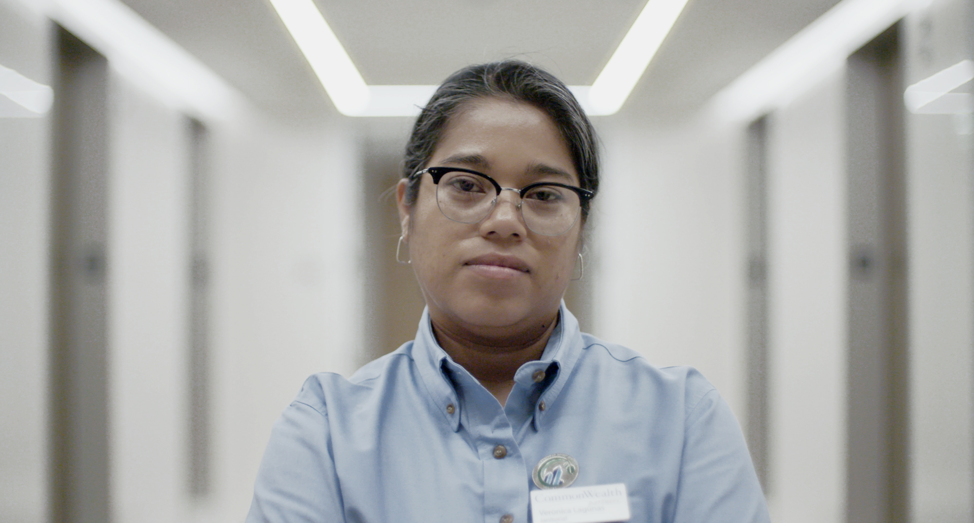 Veronica Lagunas works as a union nighttime janitor at an office building in downtown Los Angeles.