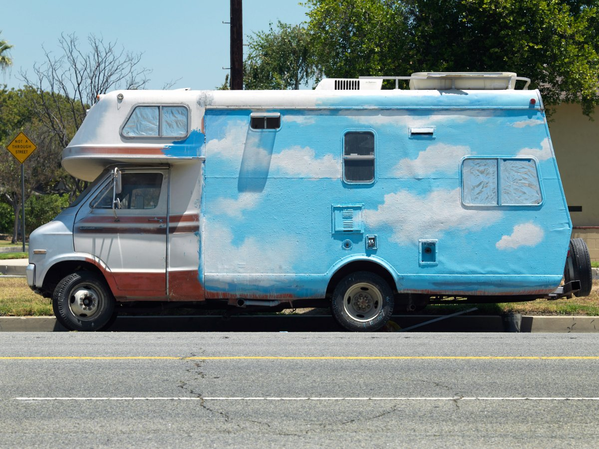 Ken Gonzales-Day, RV Painted with Clouds, Oxnard St. at Coldwater Canyon Ave., Valley Glen. | © 2017 Ken Gonzales-Day PST LALA