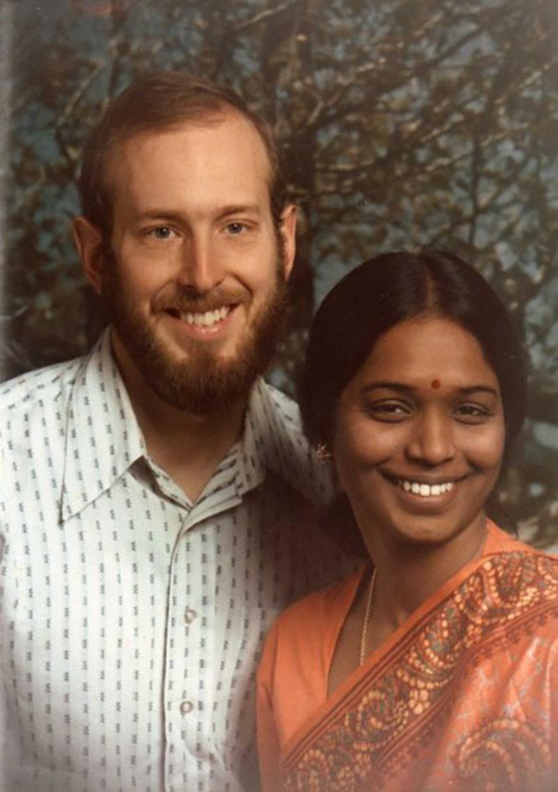 Kengathevy Morgan with her husband, 1980. | Courtesy of Kengathevy Morgan