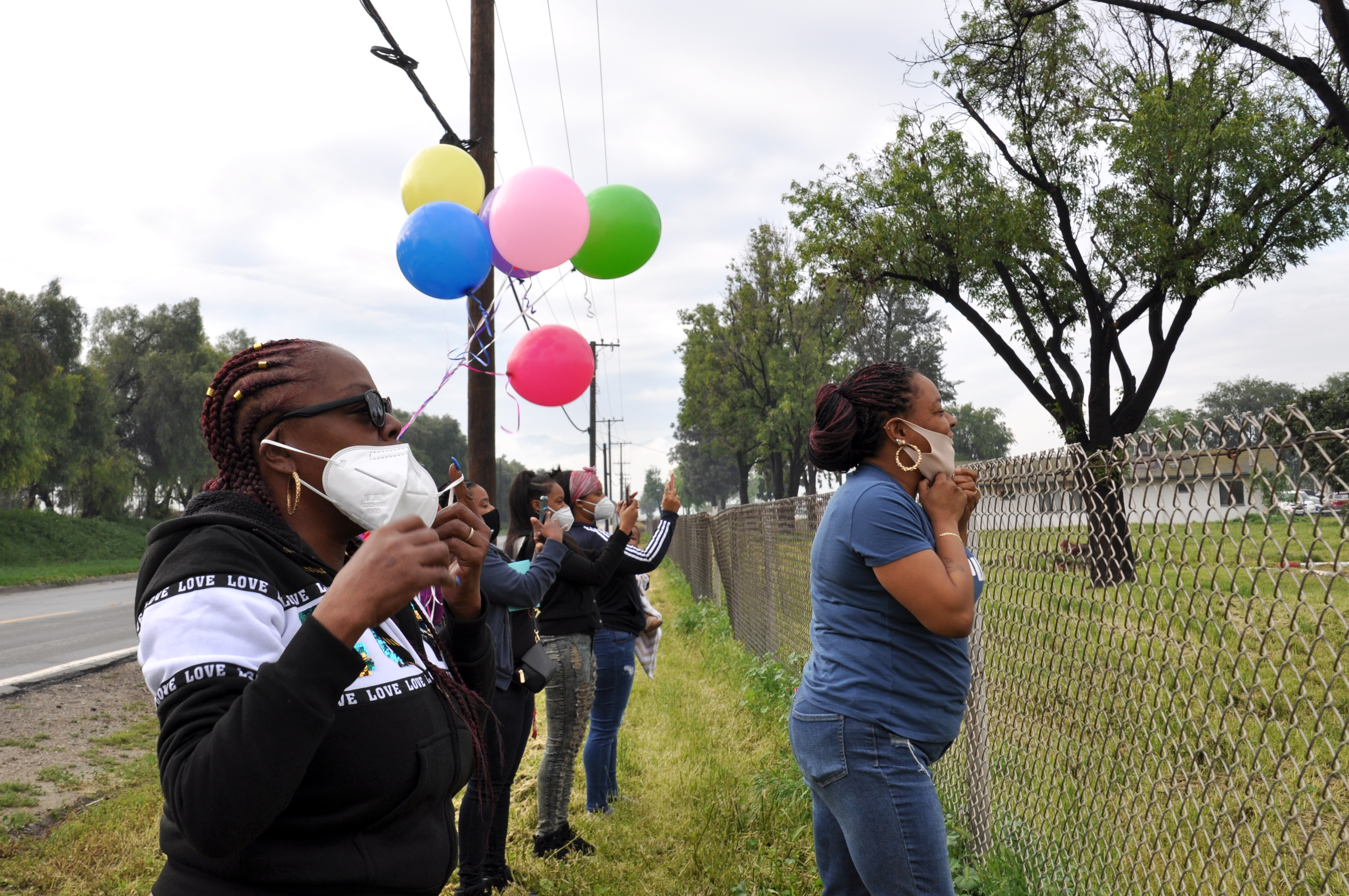 Kiera's family waits outside of the prison gate for her release | Gina Pollack