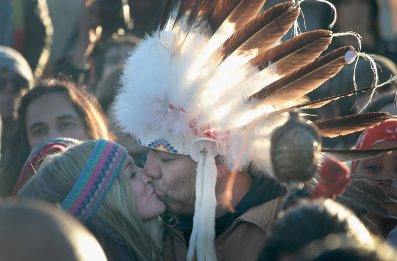 Kissing at Standing Rock
