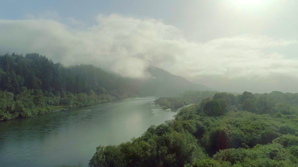 A condor's view of the Klamath River | Still from Tending Nature