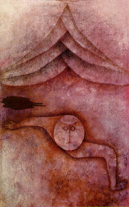 "Above: Paul Klee's painting ""Refuge,"" 1930."