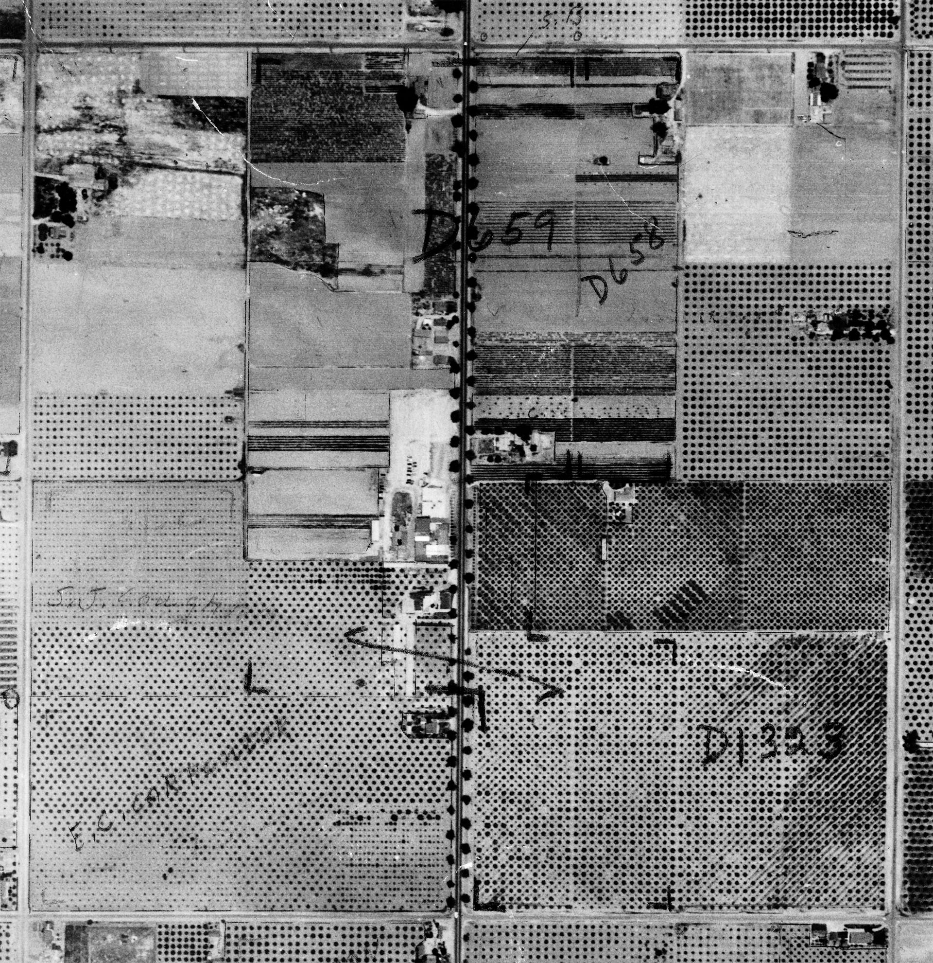 Aerial view of Knott's Berry Farm, 1937