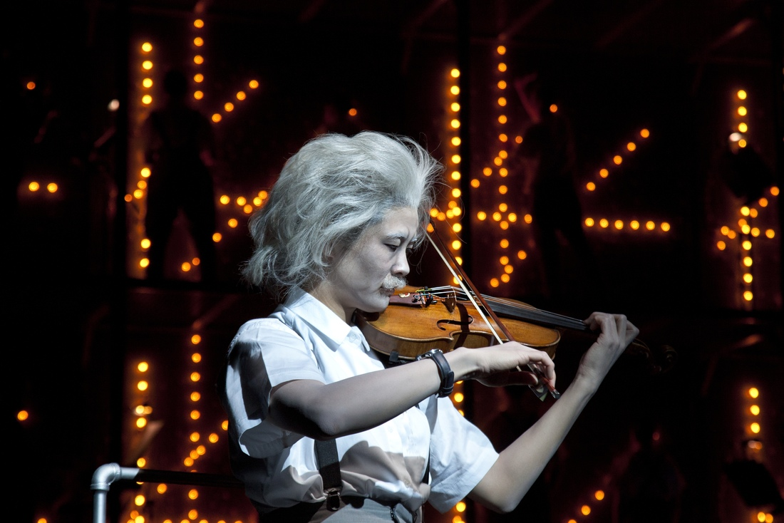 "Jennifer Koh plays Einstein in Philip Glass and Robert Wilson's ""Einstein on the Beach"" in 2012 