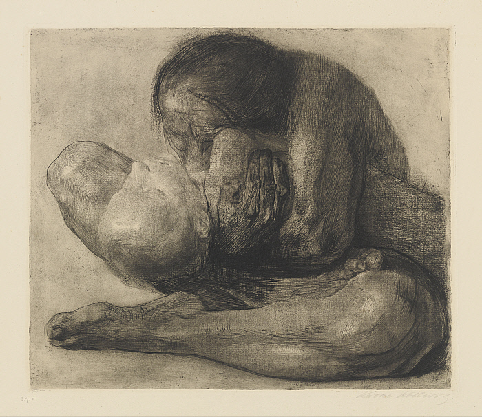 Käthe Kollwitz: Frau mit Totem Kind (Woman with Dead Child), 1903 | The Clark