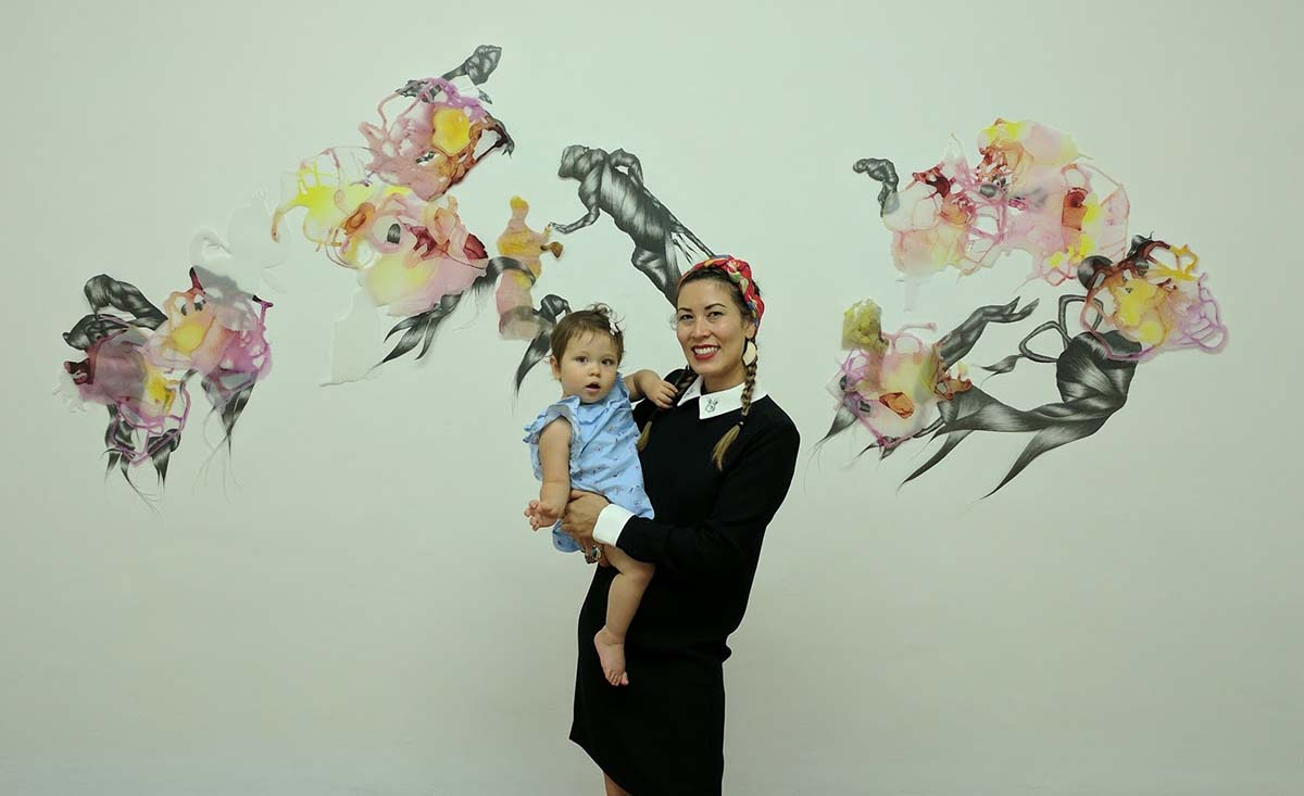 Artist Kaitlynn Redell with her daughter, Rosie | Courtesy of the artist