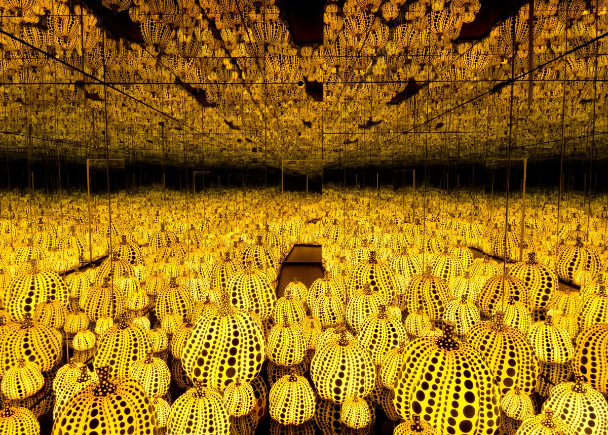 Yayoi Kusama, All the Eternal Love I Have for the Pumpkins, 2016 | Collection of the artist. Courtesy of Ota Fine Arts, Tokyo / Singapore and Victoria Miro, London. © Yayoi Kusama