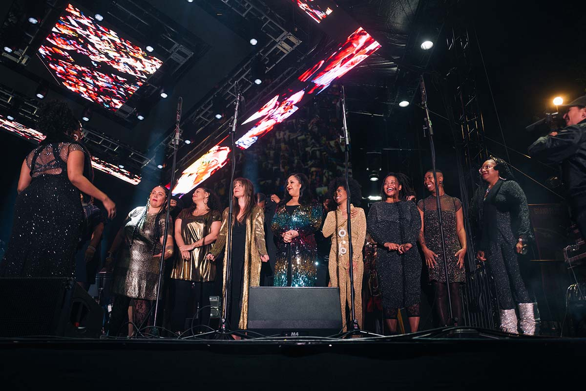 Jimetta Rose and the Voices of Creation perform during New Year's Eve 2019 | Samantha Lee ab s11 Pan Afrikan Peoples Arkestra