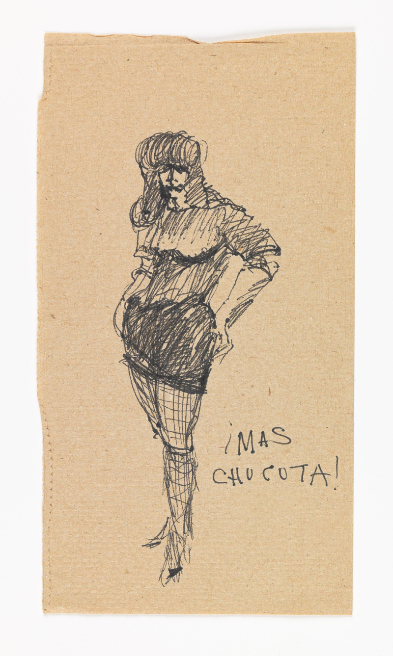 José Montoya, Untitled, date unknown. Ink on paper, 24 x 13 cm. Courtesy of the Montoya Family Trust.