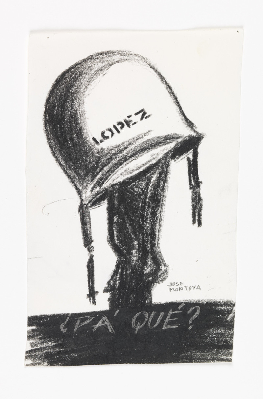 José Montoya, Untitled, date unknown. Pastel on paper, 16 x 10.5 cm. Courtesy of the Montoya Family Trust.