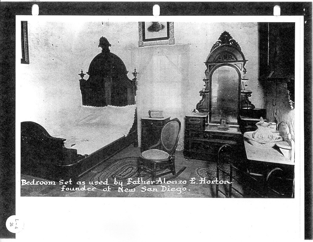 Bedroom set as used by Father Alonzo E. Horton.