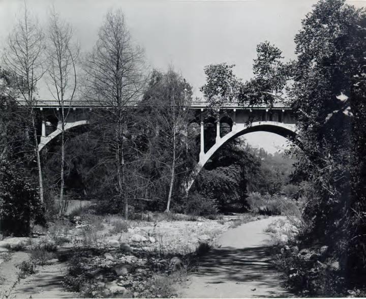 La Loma Road Bridge in the Arroyo Seco.