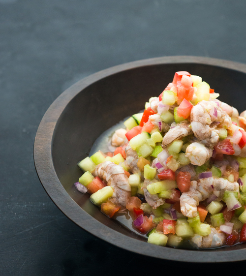 Ceviche de camaron from Mariscos Chente's | Staci Valentine