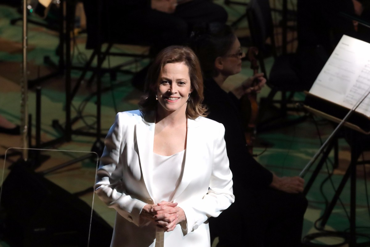 "Sigourney Weaver narrates the  2017 performance of ""War of the Worlds."" 
