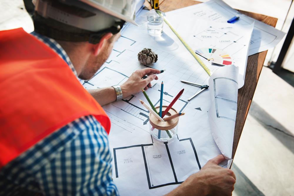 Long Beach - construction blueprint
