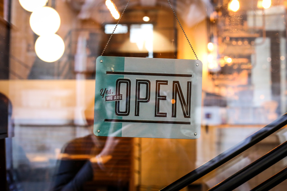 Economic Inclusion Initiative - Open sign