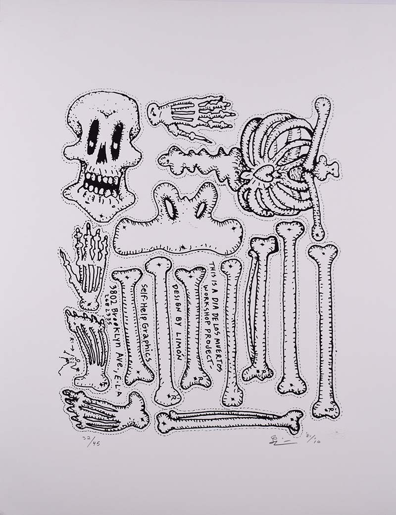 """Day of the Dead"" by Leo Limon (1981 Commemorative Dia de Los Muertos Print) 