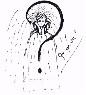 Drawing by Léona Delcourt from 1926, featured in Nadja by Andre Breton (Gallimard, Paris, 1928) | WikiCommons