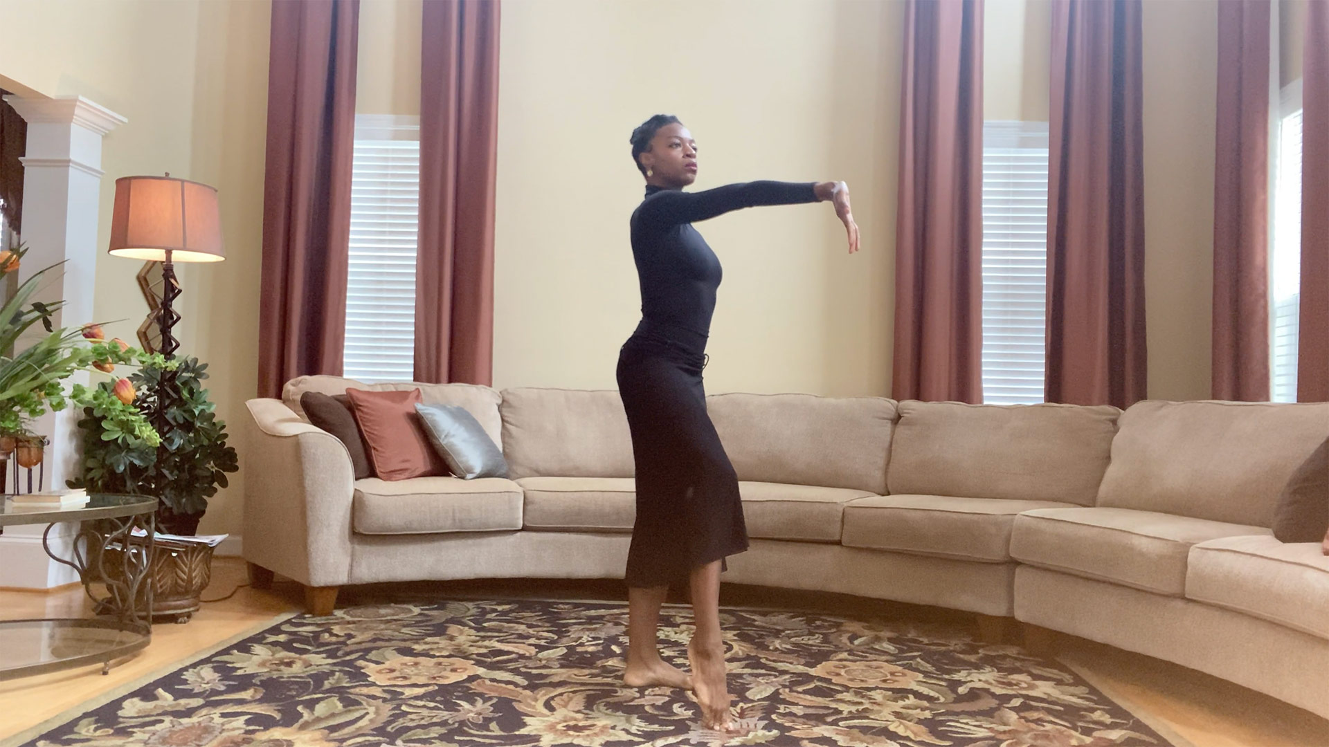 Dancer Leslie Andrea Williams rehearses. | Courtesy of Martha Graham Resources, a division of the Martha Graham Center of Contemporary Dance, Inc.