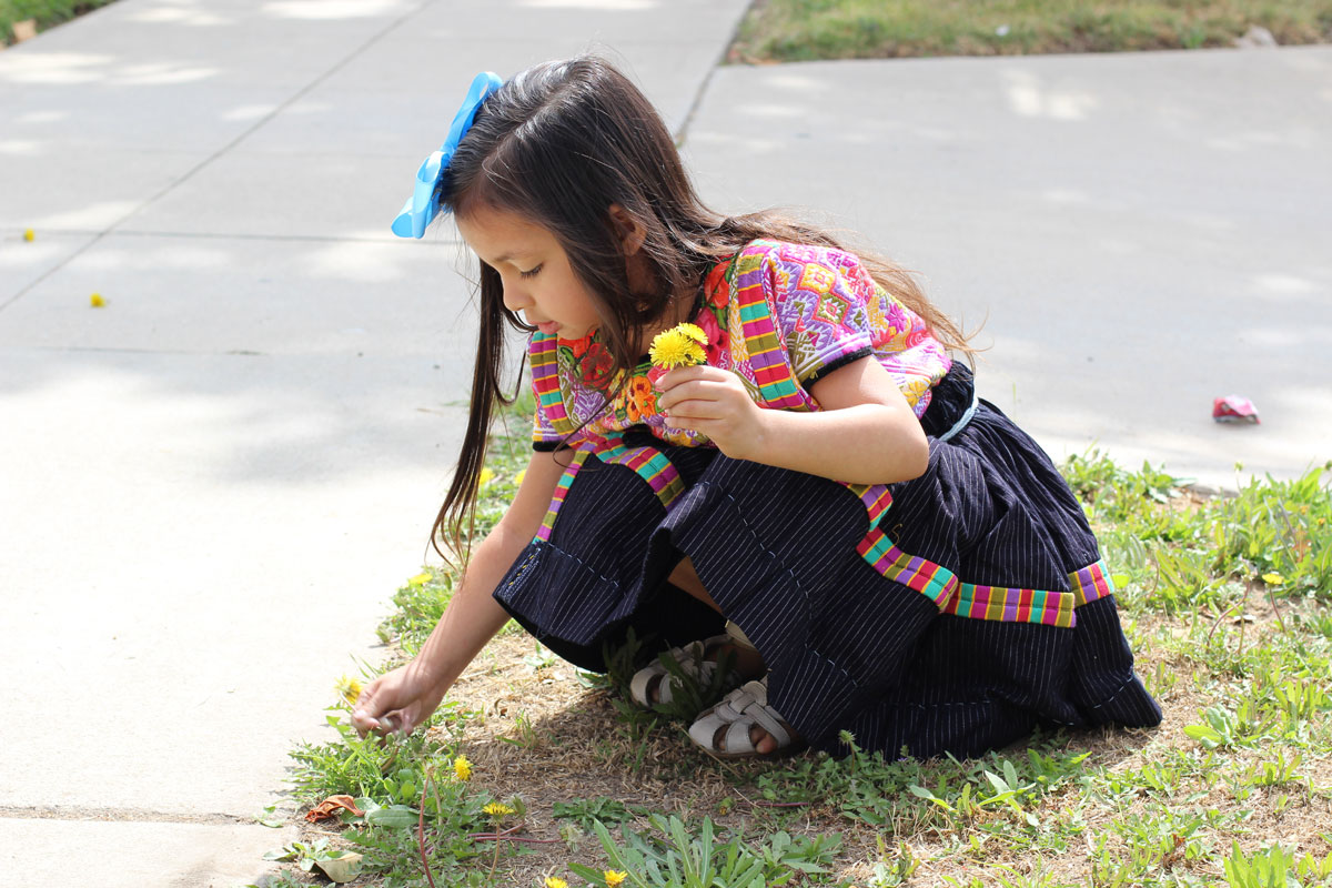 Luna F. Boj-Lopez, age 4. She enjoys picking flowers and has recently adopted a turtle named Heart Jewelry.   Jasleen Reyes / Courtesy of Las Fotos Project