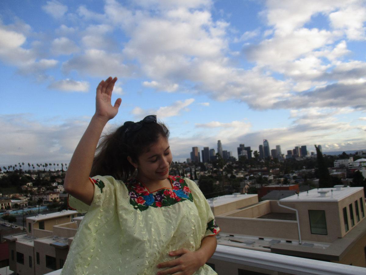 "Mina Tikal Alvarado-Goldberg, age 14  ""My maternal grandmother Martha was born in the city with roots from Guanagazapa/Escuintla, San Marcos and San Jose Pinula.   Mayan Alvarado-Gold / Courtesy of Las Fotos Project"