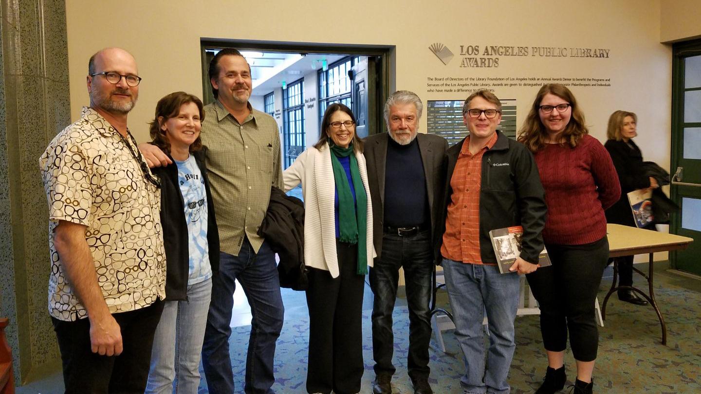 Michael Holland, KCET's Debbi Converse, Phil Noyes, KCET's Amanda Martin, Luis Fuerte, Harry Pallenberg and Kate Weibezahl