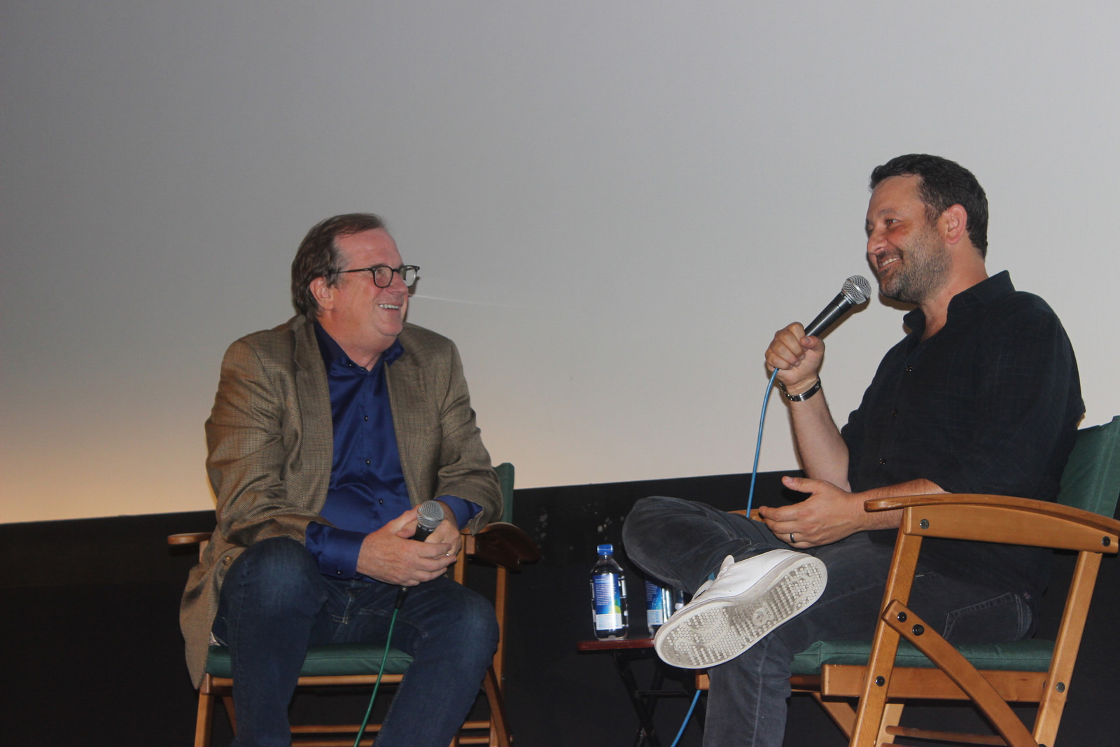 """Cinema Series host Pete Hammond and Writer/Director Dan Fogelman take questions from the audience """"Life Itself"""""""